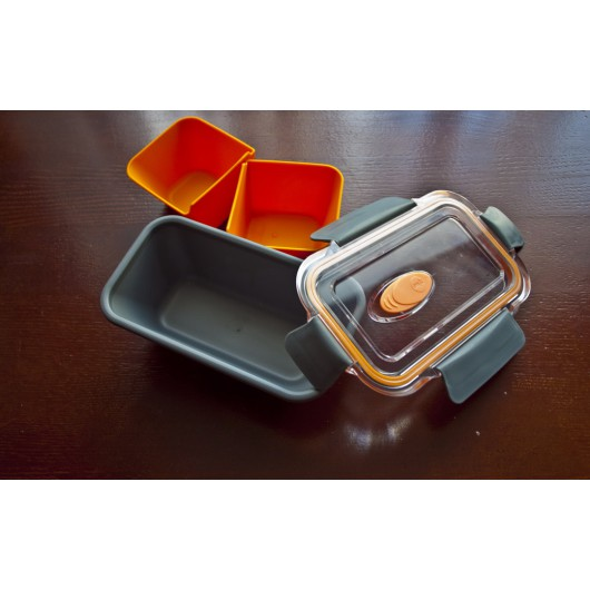 EMSA BENTO BOX 0.5L Graphite/Orange