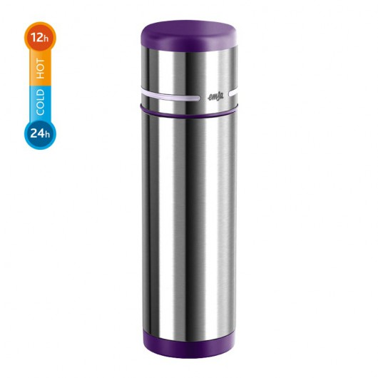 EMSA MOBILITY 1L Stainless Steel/Blackberry/Light Violet