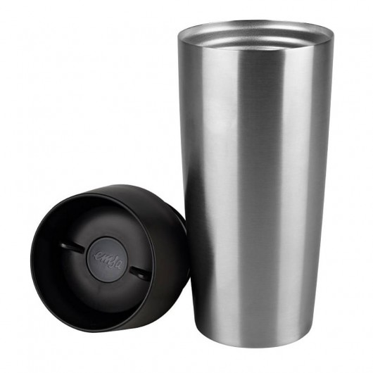 EMSA TRAVEL MUG 0.36L Stainless Steel/Black
