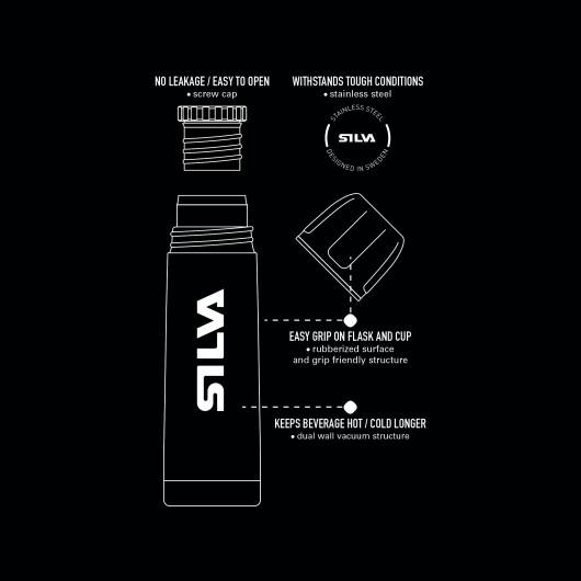 SILVA Keep 0.35L Orange/Grey